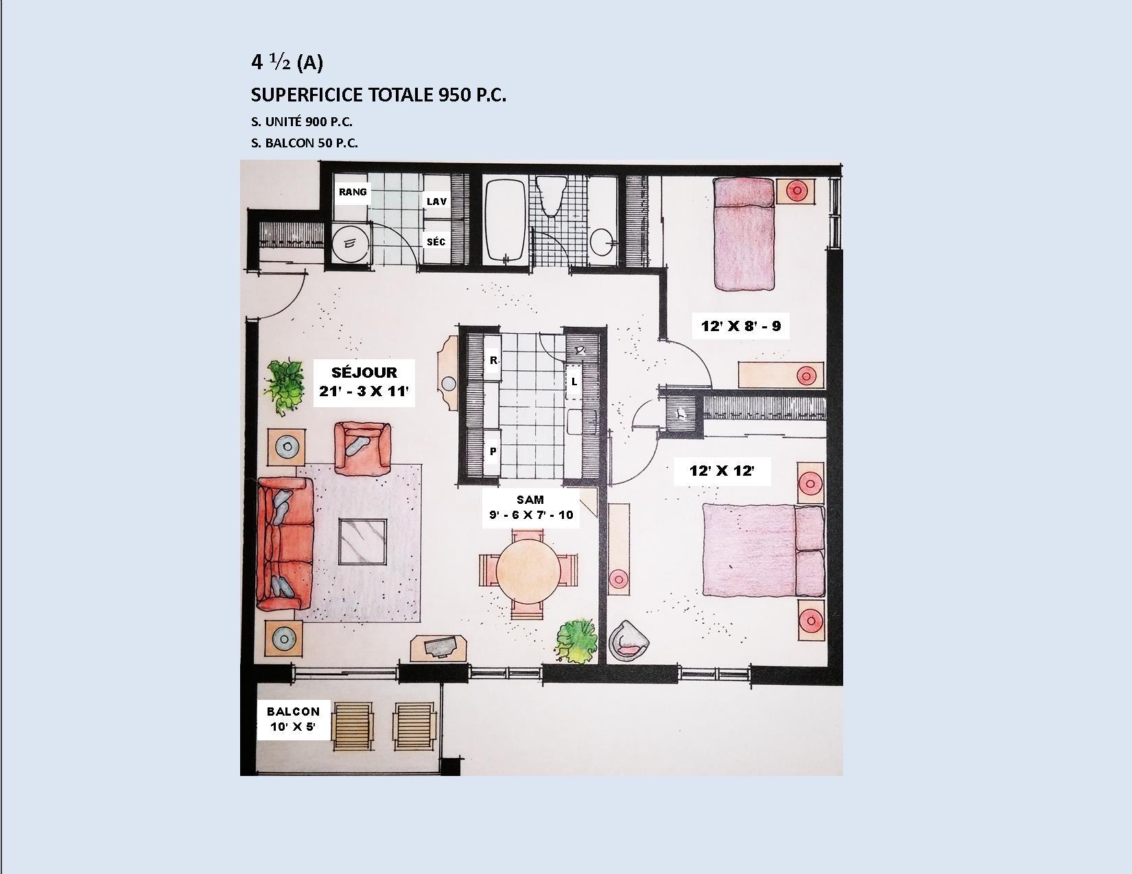 4470, Le Monelier 4 ½,  juillet ou avant - Immeubles Simard