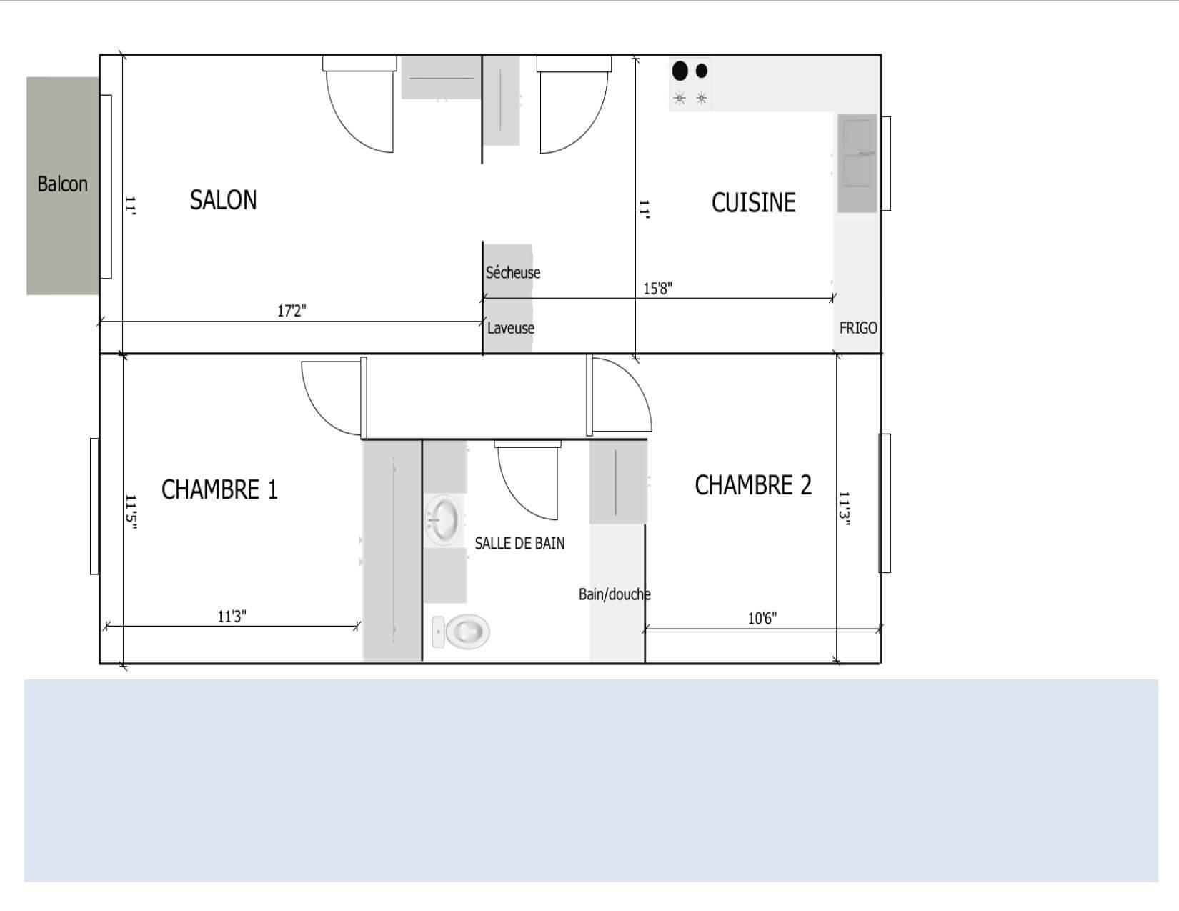 4500, Le Monelier, 4 ½ très lumineux, libre - Immeubles Simard